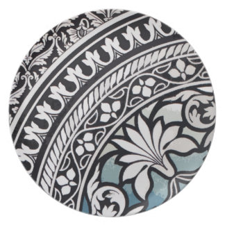 Elegant Indian Pattern Floral Graphic Design Plate