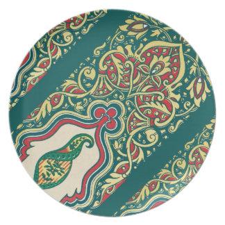 Elegant Indian Pattern Graphic Design Plate