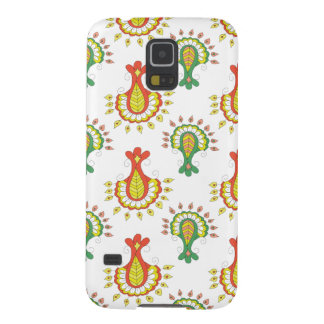 Elegant Indian Pattern In Red And Green Cases For Galaxy S5