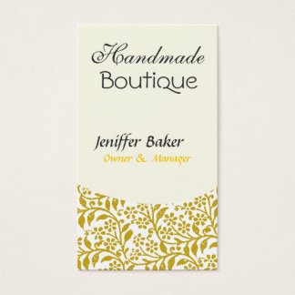 Elegant  Indie Floral Art Style Design Business Card