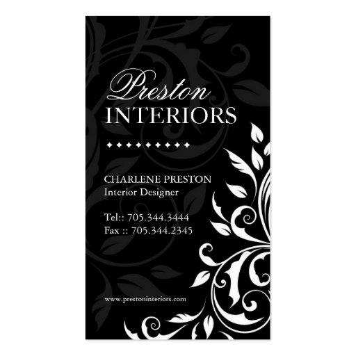 Elegant interior designer business card