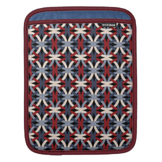 Elegant Intertwined Circles Pattern iPad Sleeve