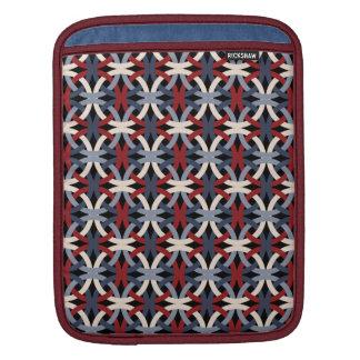 Elegant Intertwined Circles Pattern iPad Sleeve