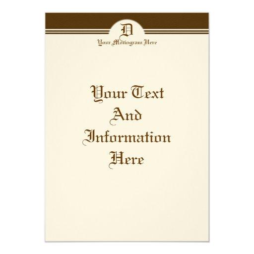 "Elegant Invitation 5"" X 7"" Invitation Card"
