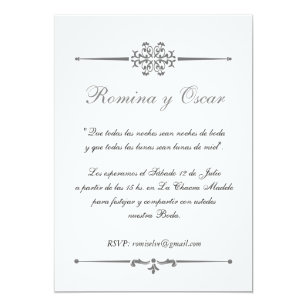 Spanish invitations zazzle elegant invitation for weddings in spanish stopboris Images