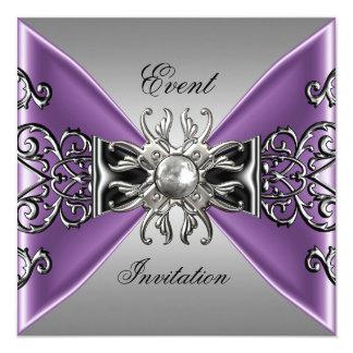 Black And Purple Wedding Invitations is adorable invitations example