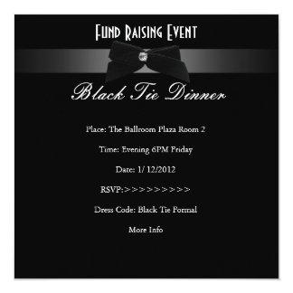Elegant Invite Fundraiser Formal Black Tie
