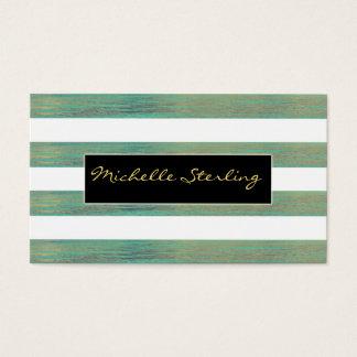 Elegant Iridescent Abalone Inspired Stripes Business Card