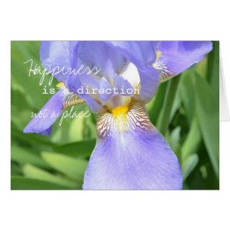 Elegant Iris Happiness Card
