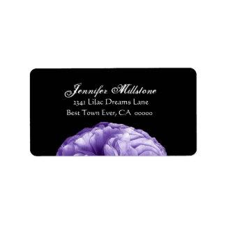 Elegant IRIS PURPLE Rose Wedding Label