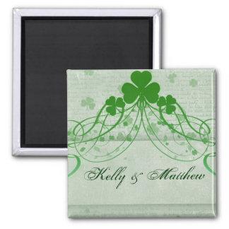 Elegant Irish - Customized 2 Inch Square Magnet