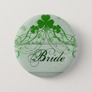 Elegant Irish Pinback Button