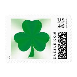 Elegant Irish Shamrock Postage Stamp stamp