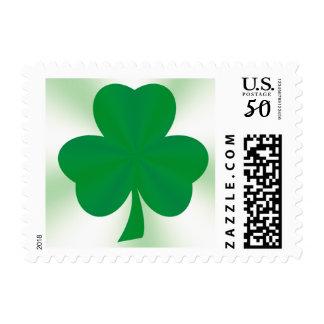 Elegant Irish Shamrock Postage Stamp
