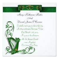 Elegant Irish Wedding invitation Harp