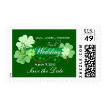 Elegant Irish Wedding Postage Stamps