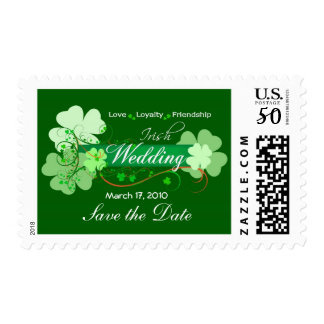 Elegant Irish Wedding Postage Stamps