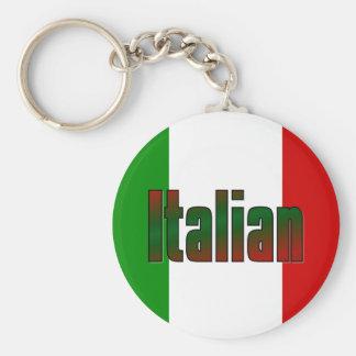 Elegant italian basic round button keychain