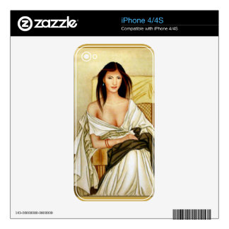 Elegant Italian lady Decal For The iPhone 4S