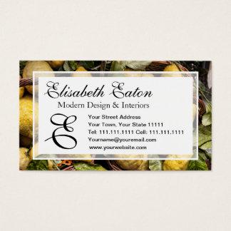 Elegant Italian Lemon Basket Amalfi Coast Lemons Business Card