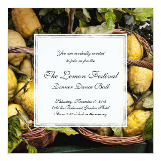 Elegant Italian Lemon Basket Amalfi Coast Lemons Card