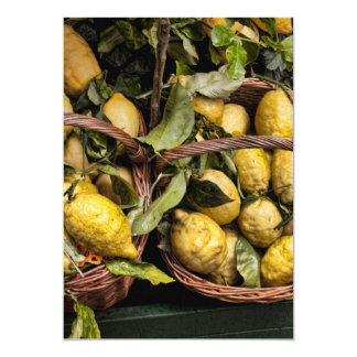 Elegant Italian Lemons in a Basket Card