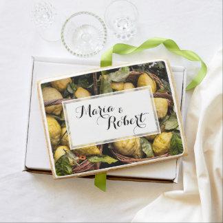 Elegant Italian Lemons in a Basket Shortbread Cookie