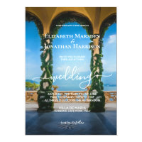 Elegant Italian Wedding Arches Lake Como Invitation