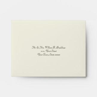 Elegant Ivory and Gold Wedding RSVP Envelope