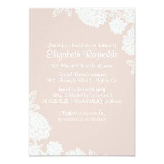 "Elegant Ivory Bridal Shower Invitations 5"" X 7"" Invitation Card"