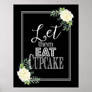 Elegant Ivory Chic Rose Let them eat cake print