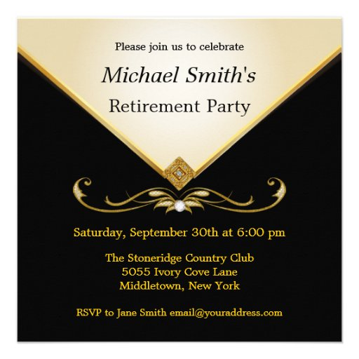 personalized elegant retirement party invitations
