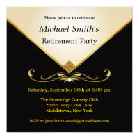 Elegant Ivory Gold Black Special Event Invitations