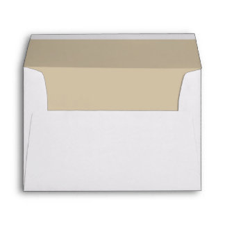Elegant Ivory Lined Envelope