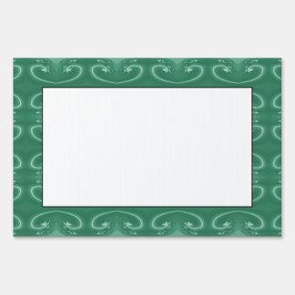 Elegant Jade Green Swirls Pattern Lawn Sign