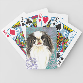 Elegant Japanese Chin Bicycle Playing Cards
