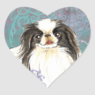 Elegant Japanese Chin Heart Sticker