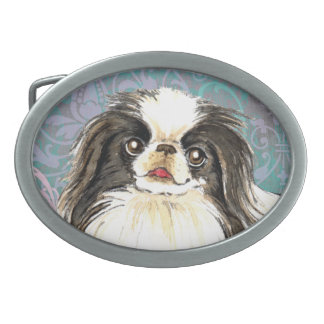Elegant Japanese Chin Oval Belt Buckle