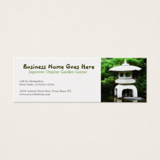 Elegant Japanese Pagoda Lantern Mini Business Card