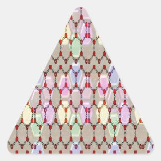 Elegant Jewel Pattern Romance Bless NVN288 fun gif Triangle Sticker