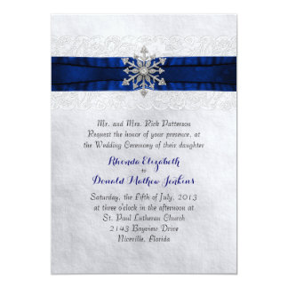 Snowflake Wedding Invitations & Announcements | Zazzle