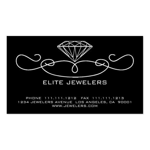 ELEGANT JEWELERS DIAMOND BUSINESS CARD