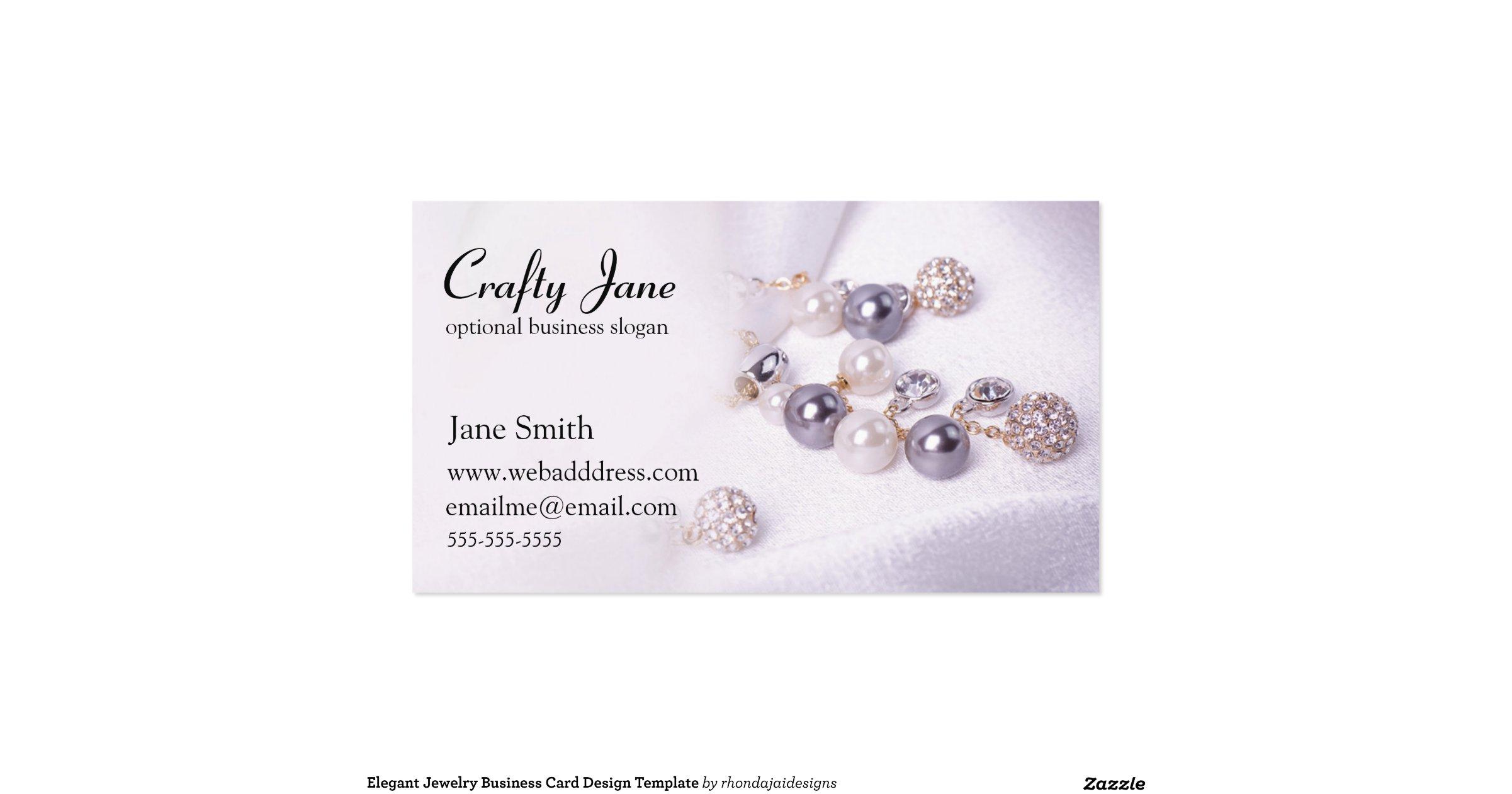 Elegant jewelry business card design template for Jewelry business card