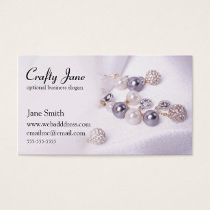Jewelry business cards templates zazzle elegant jewelry business card design template fbccfo Image collections