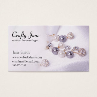 Elegant Jewelry Business Card Design Template