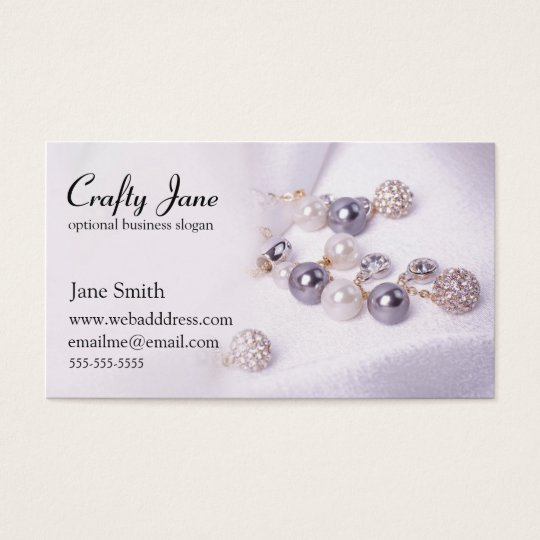 Elegant Jewelry Business Card Design Template Zazzlecom - Jewelry business card templates