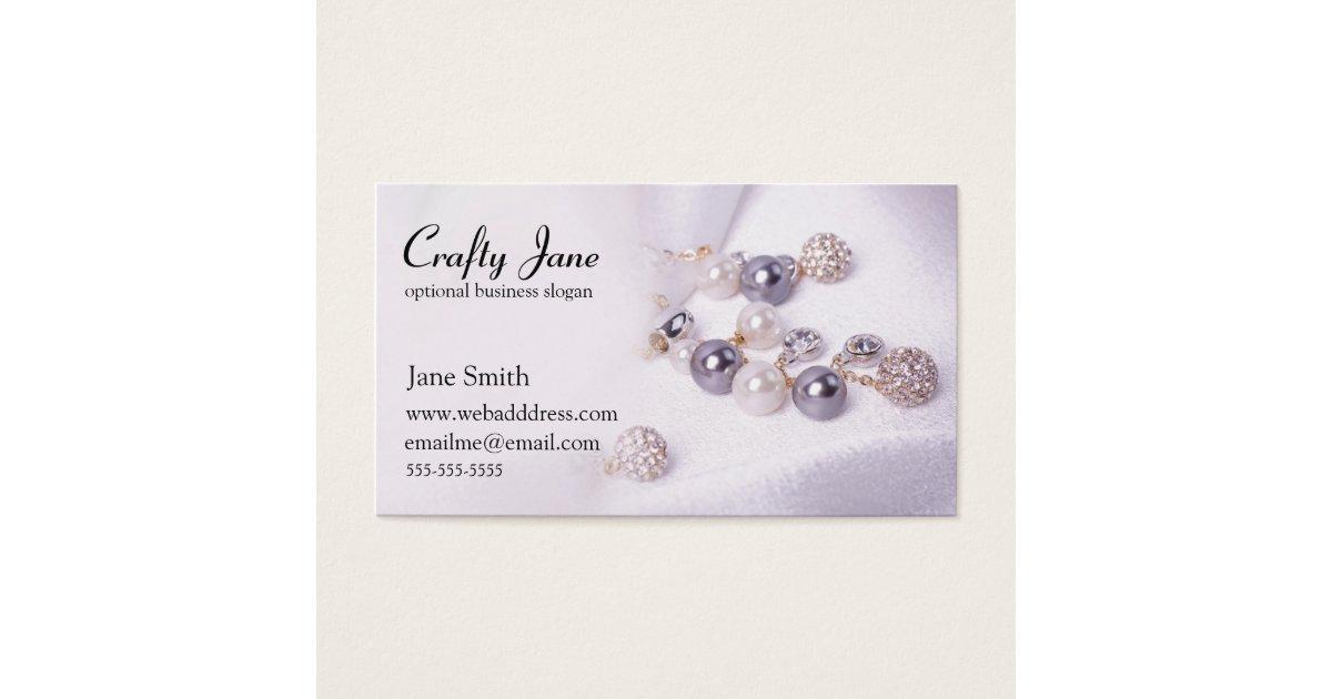 Elegant Jewelry Business Card Design Template | Zazzle.com