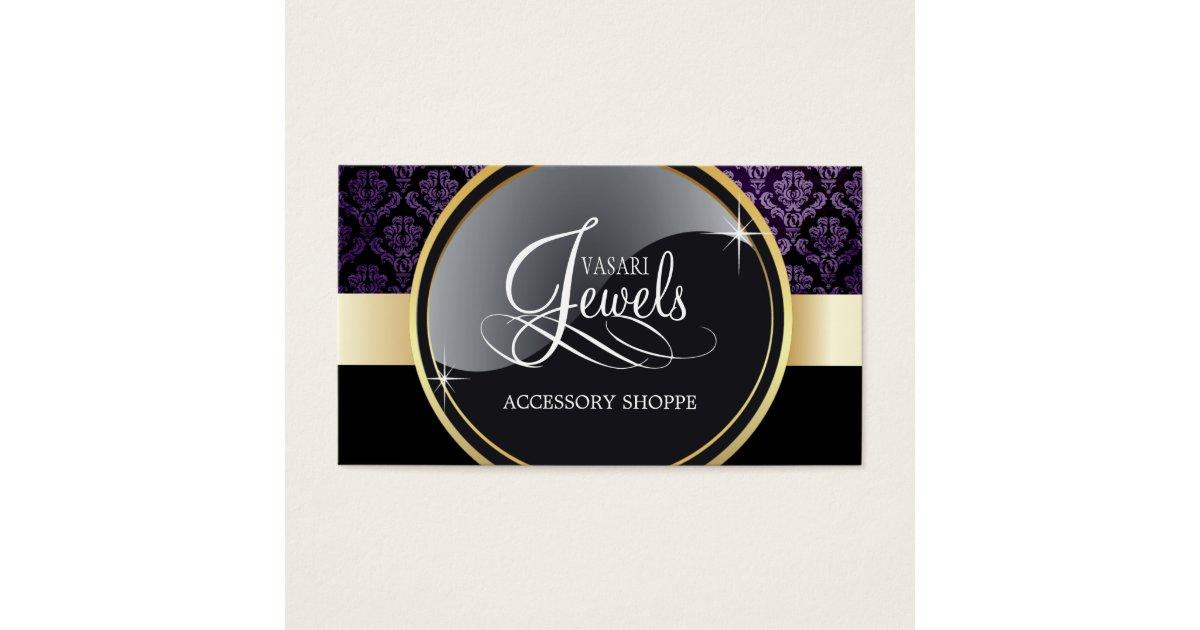 elegant jewelry business card template zazzle