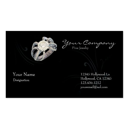 Elegant Jewelry Double Sided Standard Business Cards Pack