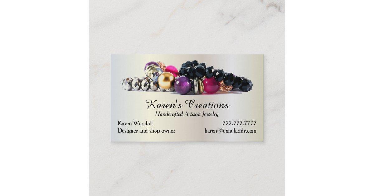 Elegant Jewelry or Jewellery Designer Maker Business Card | Zazzle.com